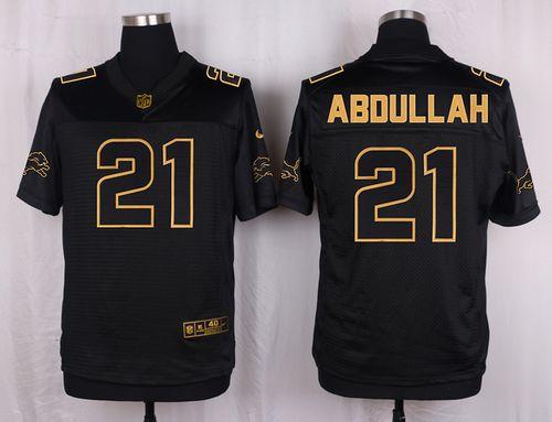 Nike Lions #21 Ameer Abdullah Black Men's Stitched NFL Elite Pro Line Gold Collection Jersey
