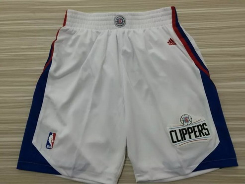 Men's Los Angeles Clippers 2015-16 White Short