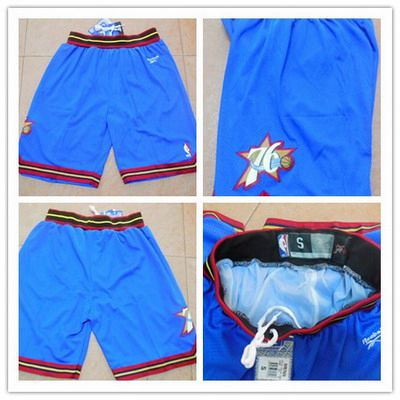 Men's Philadelphia 76ers Blue Soul Swingman Throwback Short