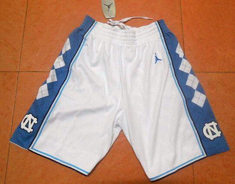 Men's North Carolina Tar Heels White Short