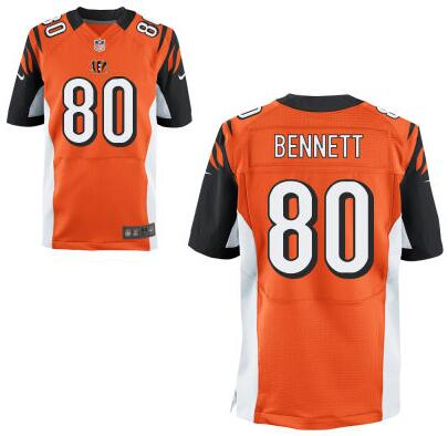 Men's Cincinnati Bengals #80 Michael Bennett Orange Alternate NFL Nike Elite Jersey