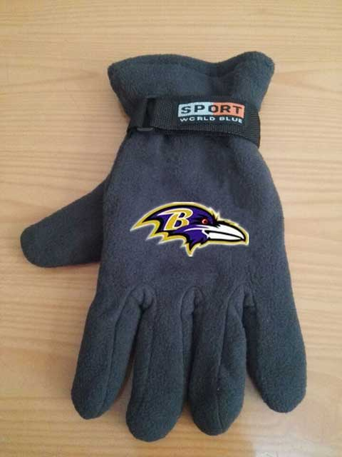 Baltimore Ravens NFL Adult Winter Warm Gloves Dark Gray