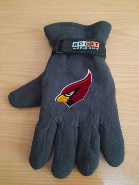 Arizona Cardinals NFL Adult Winter Warm Gloves Dark Gray