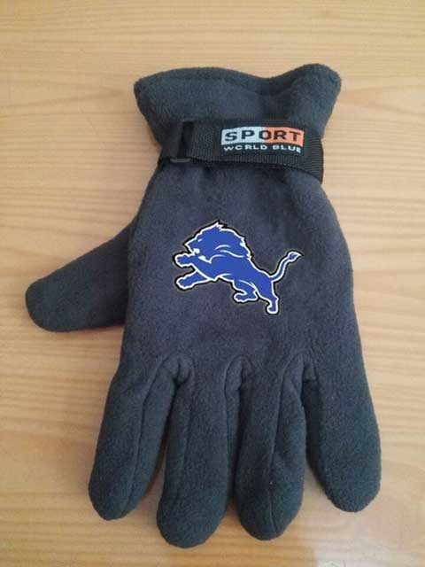 Detroit Lions NFL Adult Winter Warm Gloves Dark Gray