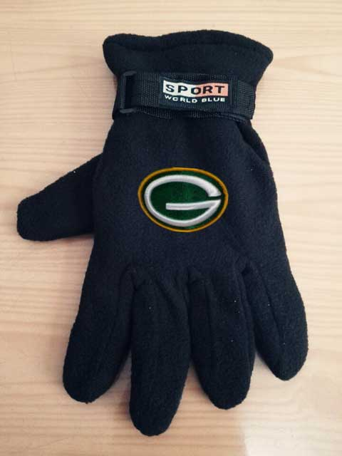 Green Bay Packers NFL Adult Winter Warm Gloves Black