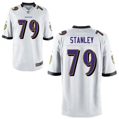 Youth Baltimore Ravens #79 Ronnie Stanley Nike White 2016 Draft Pick Game Jersey