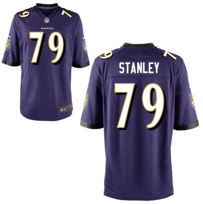 Youth Baltimore Ravens #79 Ronnie Stanley Nike Purple 2016 Draft Pick Game Jersey