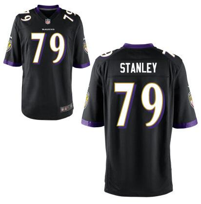 Youth Baltimore Ravens #79 Ronnie Stanley Nike Black 2016 Draft Pick Game Jersey