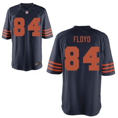 Youth Chicago Bears #84 Leonard Floyd Nike Navy Blue With Orange 2016 Draft Pick Game Jersey