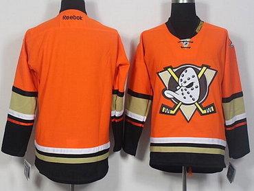 Men's Anaheim Ducks Blank Reebok Orange Alternate Hockey Jersey