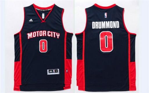 Men's Detroit Pistons #0 Andre Drummond Revolution 30 Swingman Navy Blue Jersey