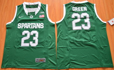 Men's Michigan State Spartans #23 Draymond Green Green College Basketball Nike Jersey