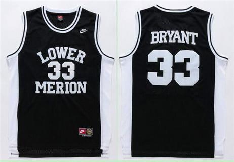 Men's Lower Merion High School #33 Kobe Bryant Black High School Nike Swingman Jersey