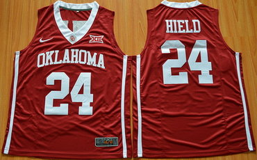 Men's Oklahoma Sooners #24 Buddy Heild Red 2016 College Basketball Nike Jersey