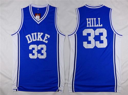 Men's Duke Blue Devils #33 Grant Hill Blue College Basketball Swingman Jersey
