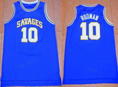 Men's Oklahoma State University #10 Dennis Rodman Blue College Basketball Swingman Jersey