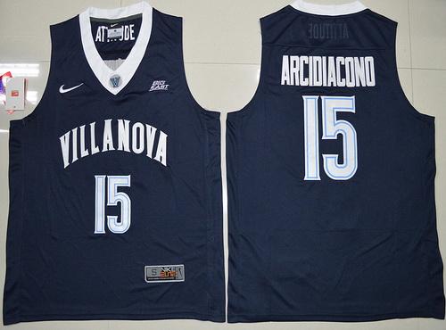 Men's Villanova Wildcats #15 Ryan Arcidiacono Navy Blue Nike College Basketball Swingman Jersey