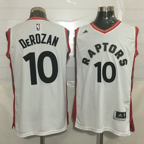 Men's Toronto Raptors #10 DeMar DeRozan White New NBA Rev 30 Swingman Jersey