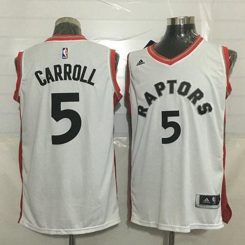 Men's Toronto Raptors #5 DeMarre Carroll White New NBA Rev 30 Swingman Jersey