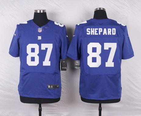 Men's New York Giants #87 Sterling Shepard Royal Blue Team Color NFL Nike Elite Jersey