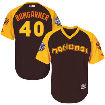 Madison Bumgarner Brown 2016 MLB All-Star Jersey - Men's National League San Francisco Giants #40 Cool Base Game Collection