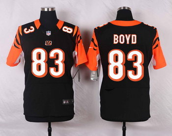 Men's Cincinnati Bengals #83 Tyler Boyd Black Team Color NFL Nike Elite Jersey