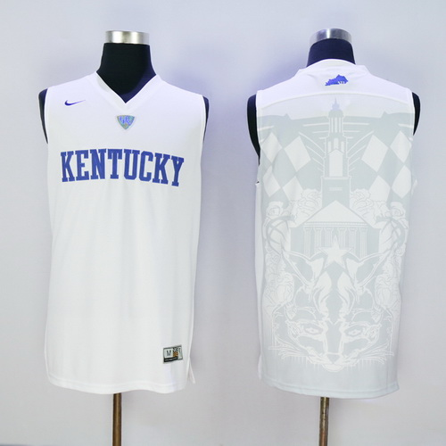 Men's Kentucky Wildcats Blank White 2016 College Basketball Swingman Jersey