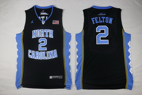 Men's North Carolina Tar Heels #2 Jalek Felton Black Soul Swingman Basketball Jersey