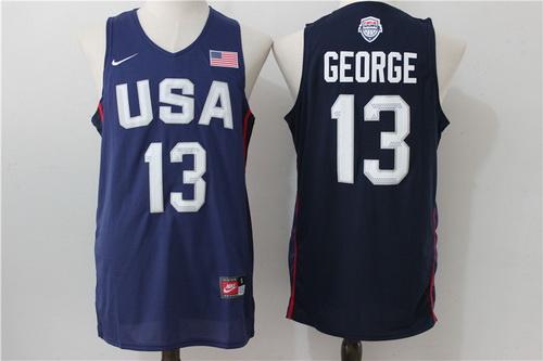 2016 Olympics Team USA Men's #13 Paul George Navy Blue Revolution 30 Swingman Basketball Jersey