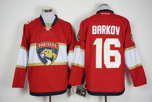 Men's Florida Panthers #16 Aleksander Barkov Red 2016-17 Home Reebok Hockey Jersey