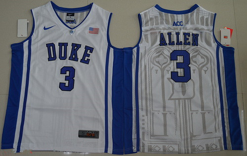 Men's Duke Blue Devils #3 Garyson Allen White College Basketball Nike Swingman Stitched NCAA Jersey