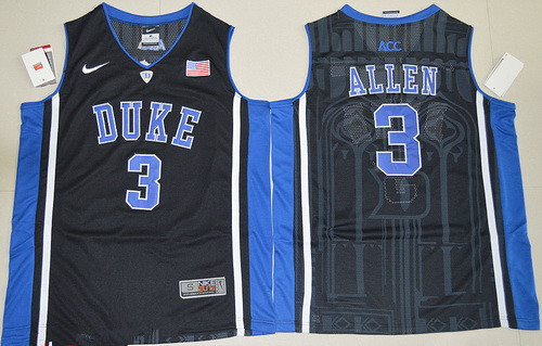 Men's Duke Blue Devils #3 Garyson Allen Black College Basketball Nike Swingman Stitched NCAA Jersey