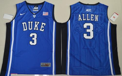Men's Duke Blue Devils #3 Garyson Allen Blue College Basketball Nike Swingman Stitched NCAA Jersey
