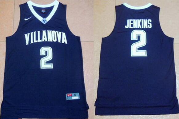 Men's Villanova Wildcats #2 Kris Jenkins Navy Blue NCAA Basketball Jersey