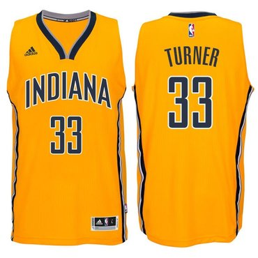 Indiana Pacers #33 Myles Turner 2014-15 New Swingman Alternate Jersey Gold
