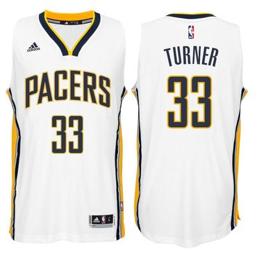 Indiana Pacers #33 Myles Turner 2014-15 New Swingman Home Jersey White
