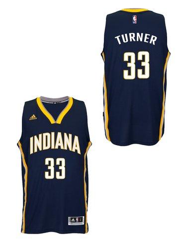 Indiana Pacers #33Myles Turner 2014-15 New Swingman Road Jersey Navy
