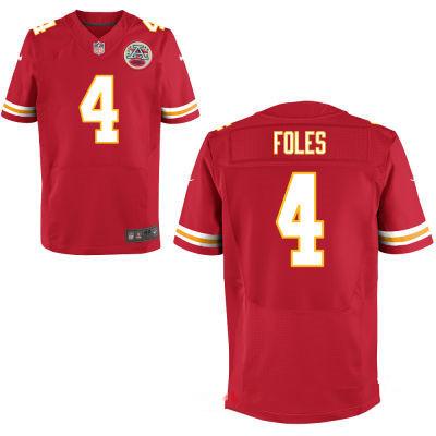 Men's Kansas City Chiefs #4 Nick Foles Red Team Color Stitched NFL Nike Elite Jersey