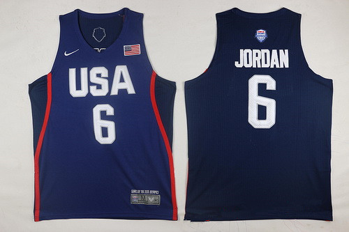 2016 Olympics Team USA Men's #6 DeAndre Jordan Navy Blue Stitched NBA Nike Swingman Jersey