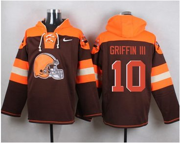 Nike Browns #10 Robert Griffin III Brown Player Pullover NFL Hoodie