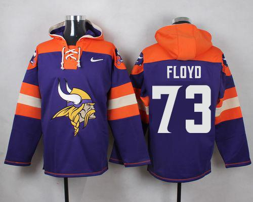 Nike Vikings #73 Sharrif Floyd Purple Player Pullover NFL Hoodie