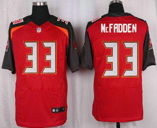 Men's Tampa Bay Buccaneers #33 Kimario McFadden Red Team Color NFL Nike Elite Jersey