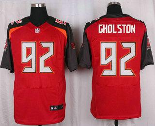 Men's Tampa Bay Buccaneers #92 William Gholston Red Team Color NFL Nike Elite Jersey