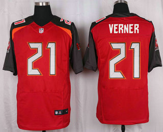 Men's Tampa Bay Buccaneers #21 Alterraun Verner Red Team Color NFL Nike Elite Jersey