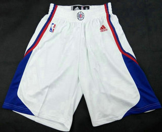 Men's Los Angeles Clippers White Swingman Shorts