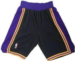 Men's Los Angeles Lakers Black Hardwood Classics Soul Swingman Throwback Shorts
