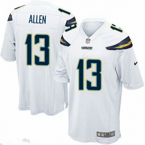 Men's San Diego Chargers #13 Keenan Allen White Road Stitched NFL Nike Game Jersey