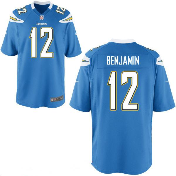 Men's San Diego Chargers #12 Travis Benjamin Light Blue Alternate Stitched NFL Nike Elite Jersey