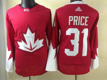 2016 IIHF Team Canada Men's #31 Carey Price Red adidas Ice Hockey Stitched Jersey