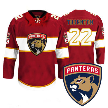 Men's Florida Panthers #22 Shawn Thornton New Logo Reebok Red Premier Player Jersey